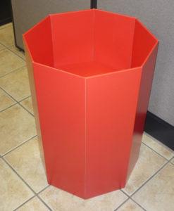 octagonal dump display bin