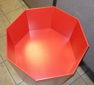octagonal retail dump display bin