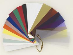 plastic shelf strips colors