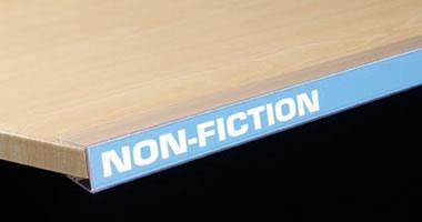 wood shelf label holders