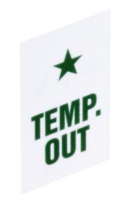 temp out plastic chip